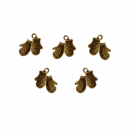 A set of 5 Gloves Charms | Pendants & Charms | Craftslane