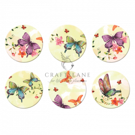Flowers and Butterflies | Découpage Paper | Craftslane